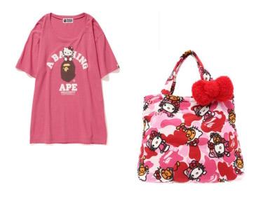 f41016d2e50a Bape x Hello Kitty Milo Big Tee and Tote Bag Set